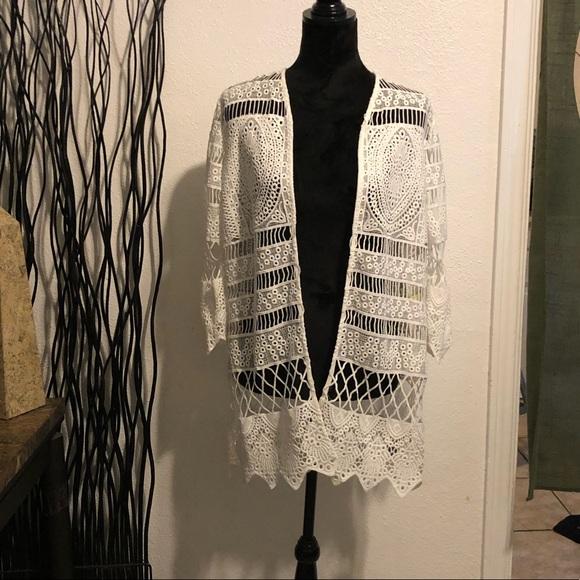 Rafaella Jackets & Blazers - Rafaela White Lace Jacket Size PM